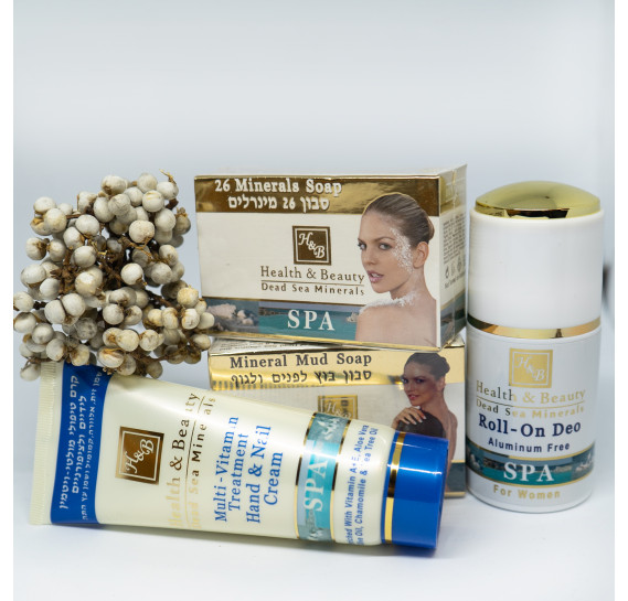 BOX №27: Минеральный набор для тела Health & Beauty 125 мл + 125 мл + 80 мл + 100 мл