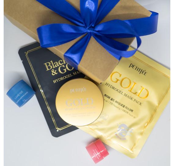 BOX №32: Золотой стандарт Плюс PETITFEE 60 шт + 1 шт + 1 шт + 3 мл + 15 мл