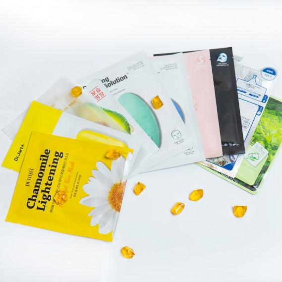 BOX №34: Топ-10 масок для лица Dr. Jart+ 30мл + 22мл + 30мл + 35мл +30мл + 35мл + 30 мл + 25мл + 21мл + 21мл