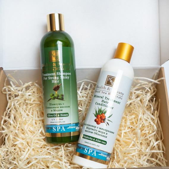BOX №5 mini: для волос Олива Health & Beauty 400 мл + 400 мл