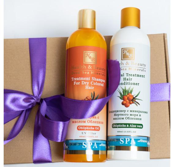 BOX №6 mini: для волос Облепиха Health & Beauty 400 мл + 400 мл