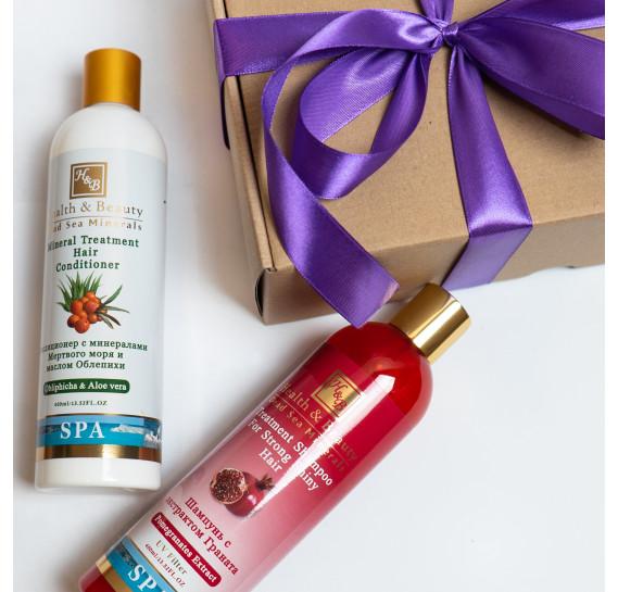 BOX №8 mini: для волос Гранат Health & Beauty 400 мл + 400 мл