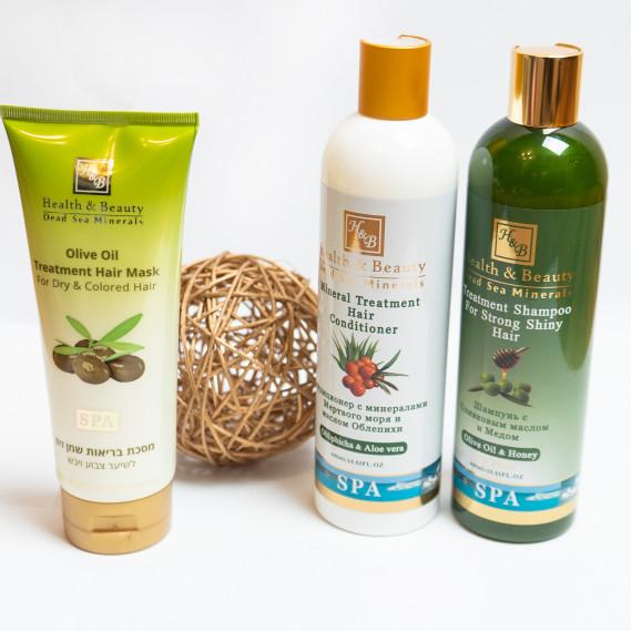 BOX №10: для волос Олива Плюс Health & Beauty 400 мл + 400 мл + 200 мл