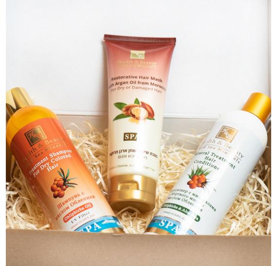 BOX №11: для волос Облепиха Плюс Health & Beauty 400 мл + 400 мл + 200 мл