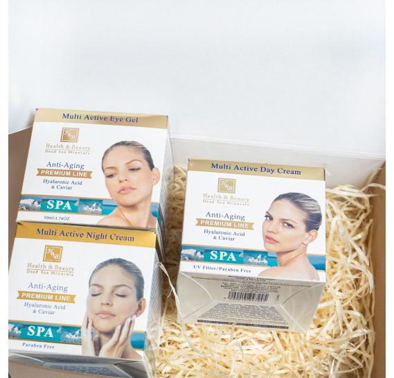 BOX №23: Премиальный набор для лица с гиалуроном Health & Beauty 50 мл + 50 мл + 50  мл
