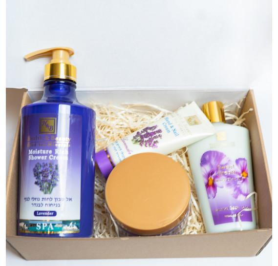 BOX №24: Набор для тела Лаванда Health & Beauty 450 мл + 780 мл + 250 мл + 100 мл