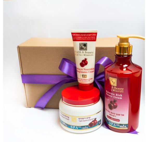 BOX №30: Набор для тела Гранат Health & Beauty 780 мл + 250 мл + 100 мл