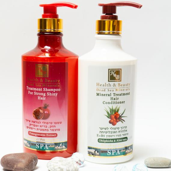 BOX №8 BIG: для волос Гранат Health & Beauty 780 мл + 780 мл