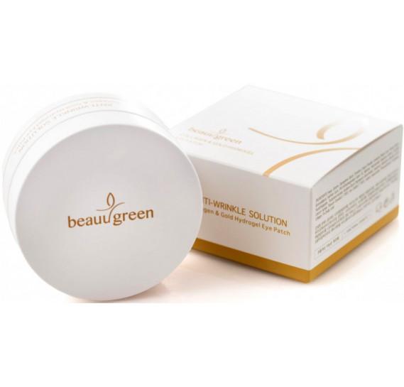 Омолаживающие гидрогелевые патчи с золотом и коллагеном BeauuGreen Collagen Gold Hydrogel Eye Patch 60 шт