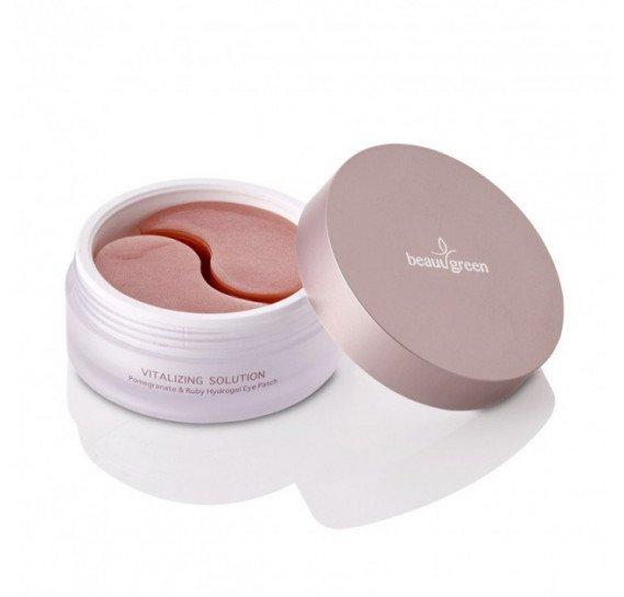 Гидрогелевые патчи для кожи вокруг глаз BeauuGreen Pomegranate & Ruby Hydrogel Eye Patch 60 шт