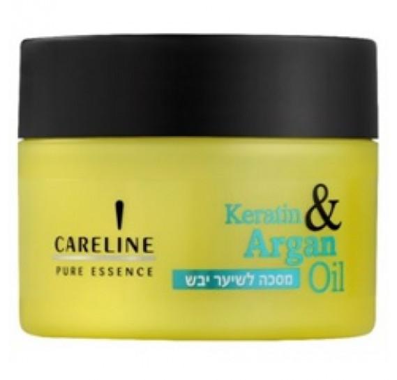 Набор Восстанавливающий для сухих волос Кератин и Аргановое масло Careline Шампунь - 600 мл + Кондиционер - 600 мл + Маска - 300 мл