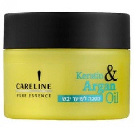 Восстанавливающая маска для сухих волос Кератин и Аргановое масло Careline 300 мл