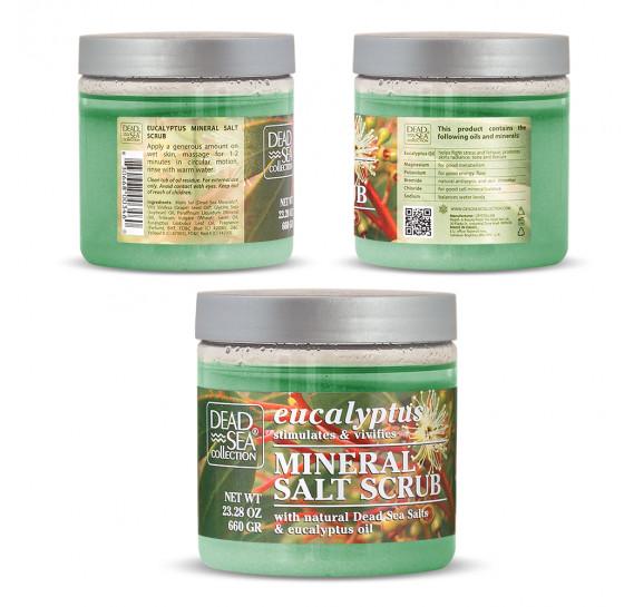 Скраб для тела с маслом эвкалипта и минералами Мертвого моря Dead Sea Collection 660 мл