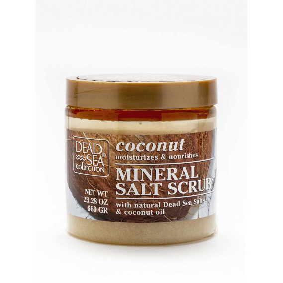 Скраб для тела с минералами Мертвого моря и маслом кокоса Dead Sea Collection 680 мл