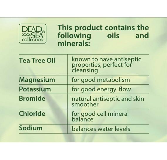 Набор для душа и тела с минералами Мертвого моря и маслом чайного дерева Dead Sea Collection Гель 1000мл + Лосьон 500мл + Масло 120мл