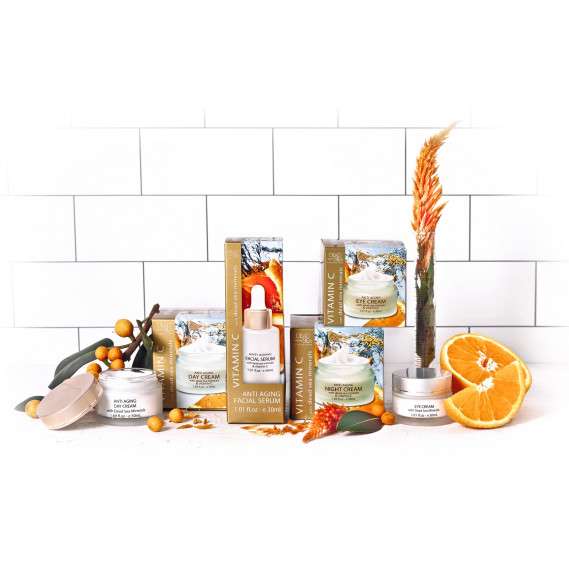 Набор для лица против морщин с витамином С Dead Sea Collection 50мл + 50мл + 30мл + 30мл