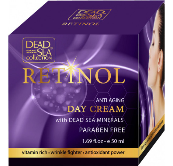 Дневной крем против старения с ретинолом и минералами Мертвого моря Dead Sea Collection 50 мл