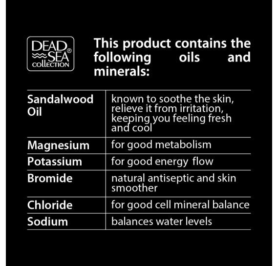 Мужской гель для душа, волос и лица 3в1 Sandalwood Dead Sea Collection 1000 мл