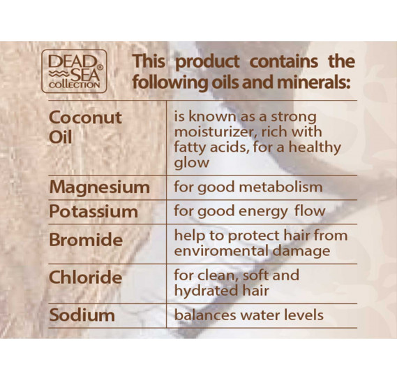 Шампунь с минералами Мертвого моря и кокосовым маслом Dead Sea Collection 1000 мл