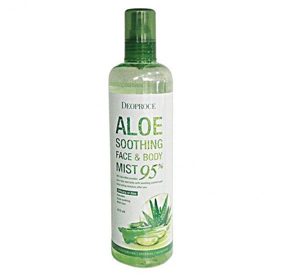 Мист для лица и тела АЛОЭ 95% Deoproce Aloe Soothing Face & Body Mist 95% 410 мл