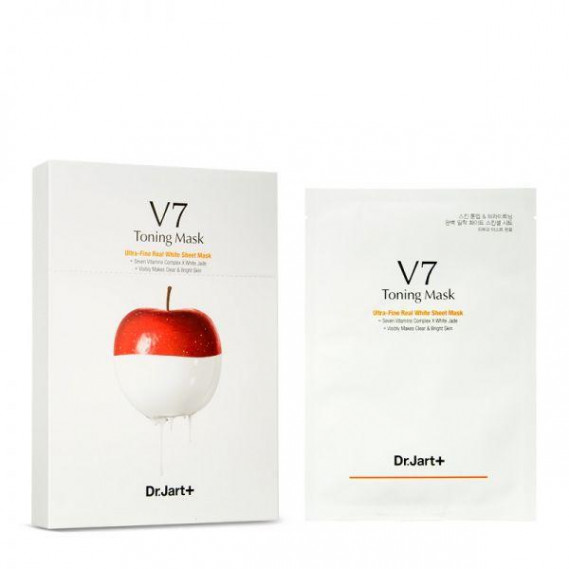 Осветляющая ультратонкая маска Dr.Jart+ V7 Toning Mask Ultra-Fine Real White Sheet Dr. Jart+ 30 мл
