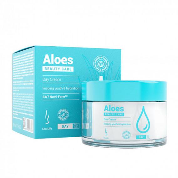 Увлажняющий дневной крем с гиалуроновой кислотой DuoLife Beauty Care Aloes Day Cream 50 мл