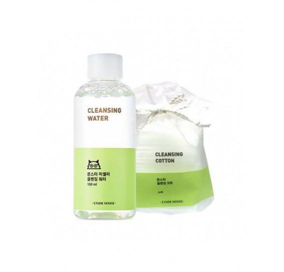 Набор для очищения кожи лица Etude House Monster Cleansing Travel Kit 100 мл + 30 шт ETUDE HOUSE