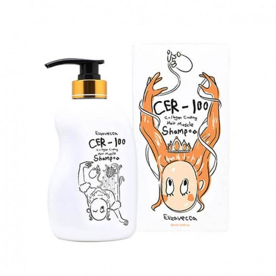 Шампунь для волос с коллагеном Elizavecca CER-100 Collagen Coating Hair Muscle Shampoo 500 мл