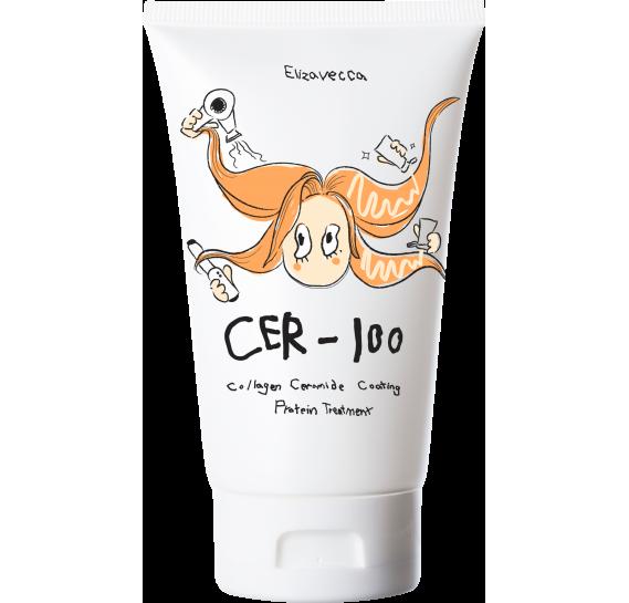 Коллагеновая маска для волос Elizavecca CER-100 Collagen Ceramid Coating Protein Treatment 100 мл
