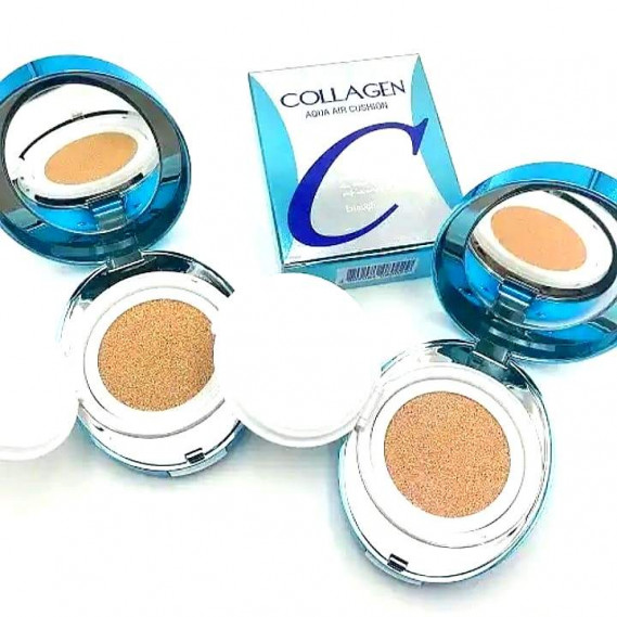 Увлажняющий кушон для лица с коллагеном ENOUGH Collagen Aqua Air Cushion SPF50+ #13 Enough 15 г