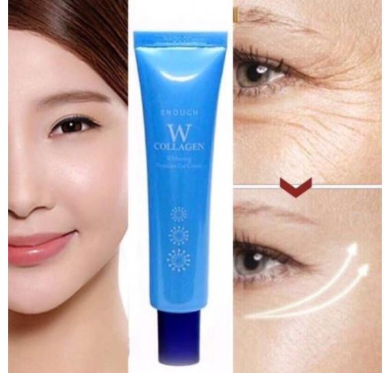 Крем для кожи вокруг глаз осветляющий с коллагеном Enough W Collagen Whitening Premium Eye Cream 30 мл