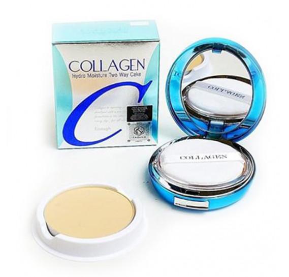 Пудра увлажняющая с коллагеном Enough Collagen Hydro Moisture Two Way Cake SPF25++ с запаской #13 13 г + 13 г