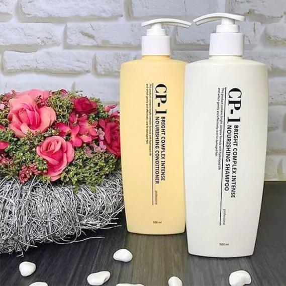 Набор для волос: Интенсивно питающий  шампунь и кондиционер Esthetic House CP-1 Bright Complex Intense Nourishing 500 мл + 500 мл