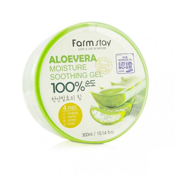 Универсальный гель для чувствительной кожи с алоэ FarmStay Aloevera Moisture Soothing Gel - 300 мл FARMSTAY