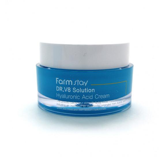 Увлажняющий крем для лица с гиалуроновой кислотой Farm Stay DR-V8 Solution Hyaluronic Acid Cream FARMSTAY 50 мл