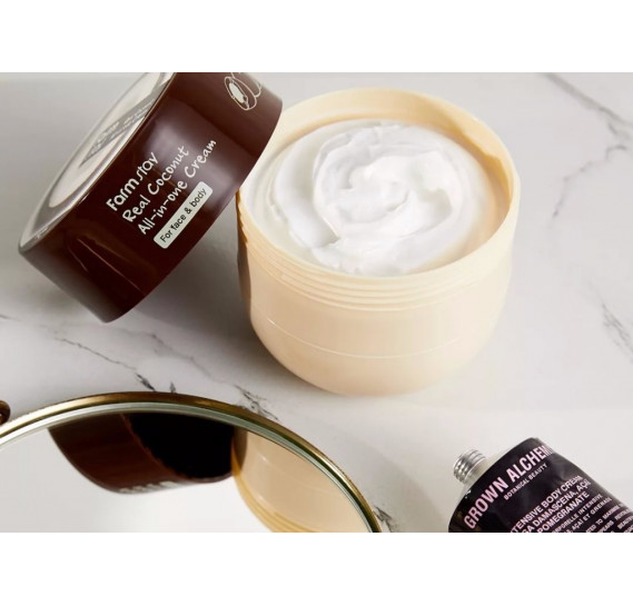 Многофункциональный крем для лица и тела с маслом кокоса FARMSTAY Real Coconut All-in-One Cream 300 мл