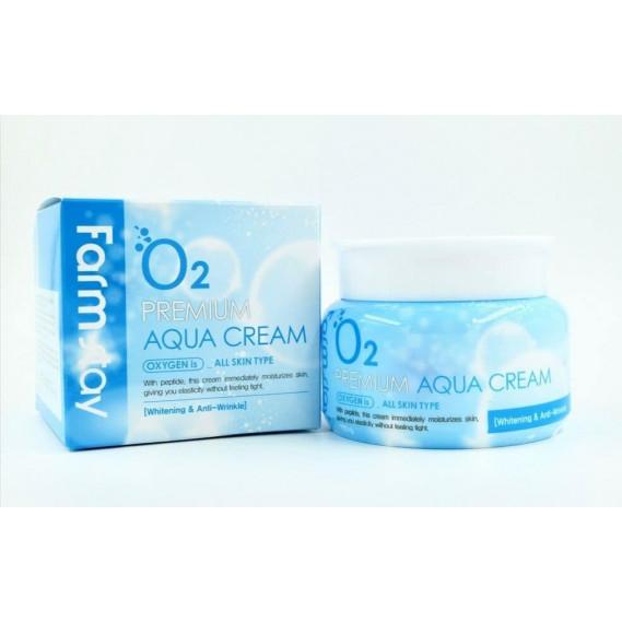 Кислородный крем для лица с пептидами FarmStay O2 Premium Aqua Cream - 100 мл FARMSTAY