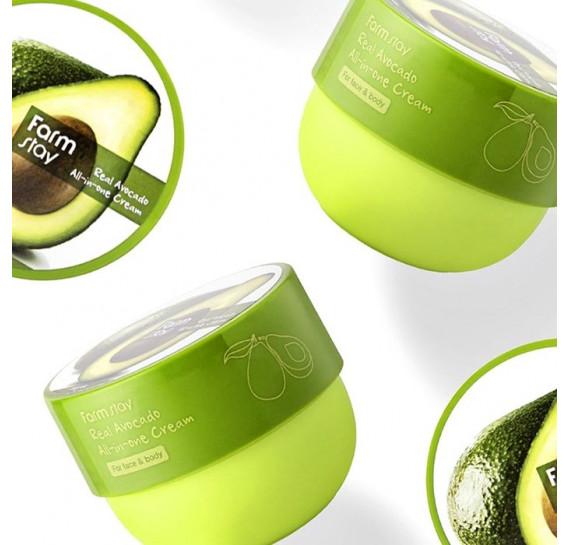 Многофункциональный крем с маслом авокадо для лица и тела FARMSTAY Real Avocado All-In-One Cream 300 мл