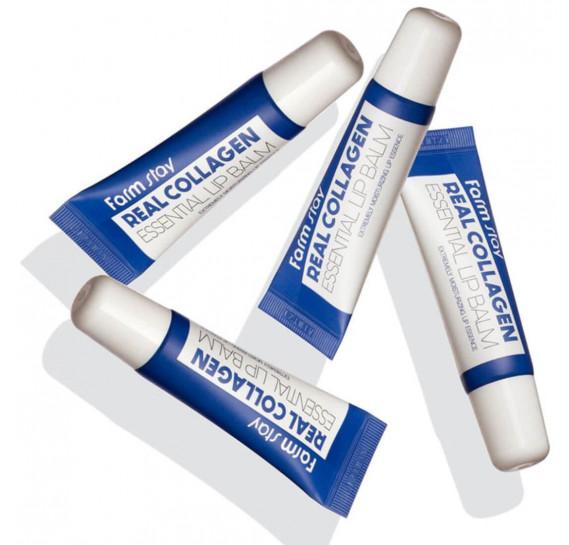 Бальзам для губ с коллагеном FarmStay Real Collagen Essential Lip Balm FARMSTAY 10 мл