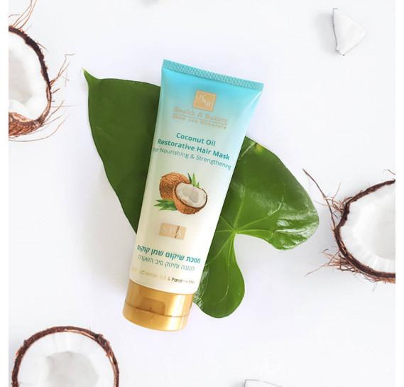 Восстанавливающая маска для волос с Кокосовым маслом Питание и Укрепление Health & Beauty 200 мл