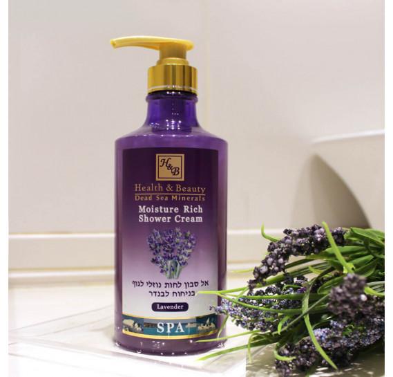 Увлажняющее жидкoе бесщелочное мыло для тела с лавандой Health & Beauty 780 мл