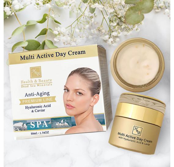 Мультиактивный дневной крем с гиалуроновой кислотой и экстрактом икры Health & Beauty 50 мл