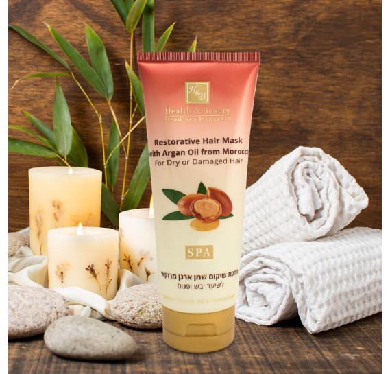 Восстанавливающая маска для волос с маслом Марокканской Aрганы для сухих и поврежденных волос Health & Beauty 200 мл