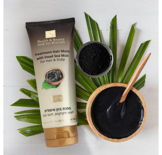 Грязевая маска для волос и кожи головы с минералами Мертвого моря Health & Beauty 200 мл