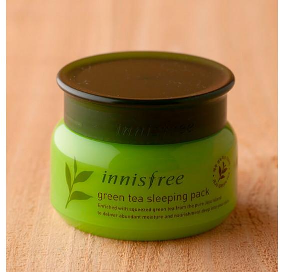 Ночная маска с экстрактом зелёного чая Innisfree Green Tea Sleeping pack INNISFREE 80 мл