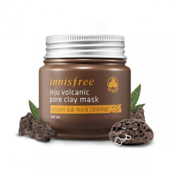 Маска Для Очищения И Сужения Пор С Вулканическим Пеплом Innisfree Jeju Volcanic Pore Clay Mask INNISFREE 100 мл