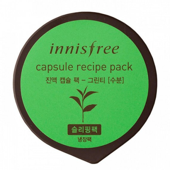 Восстанавливающая ночная маска с экстрактом зеленого чая Innisfree Capsule Recipe Night Pack Green Tea  INNISFREE 10 мл