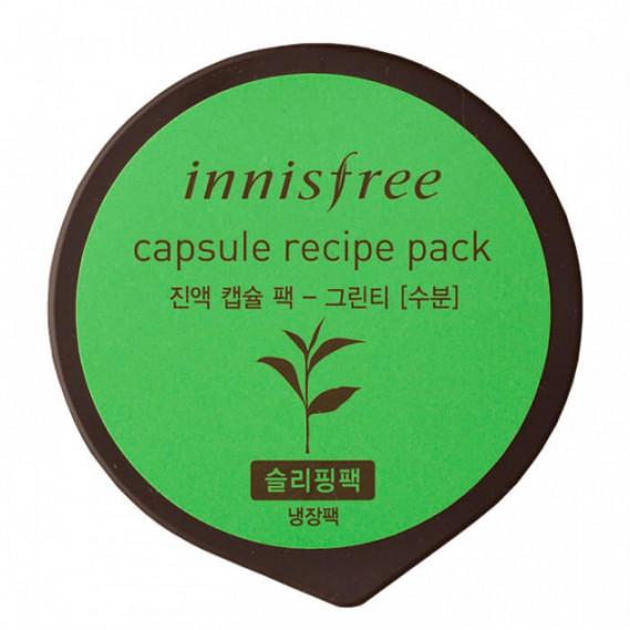Восстанавливающая ночная маска с экстрактом зеленого чая Innisfree Capsule Recipe Night Pack Green Tea  INNISFREE 10 мл