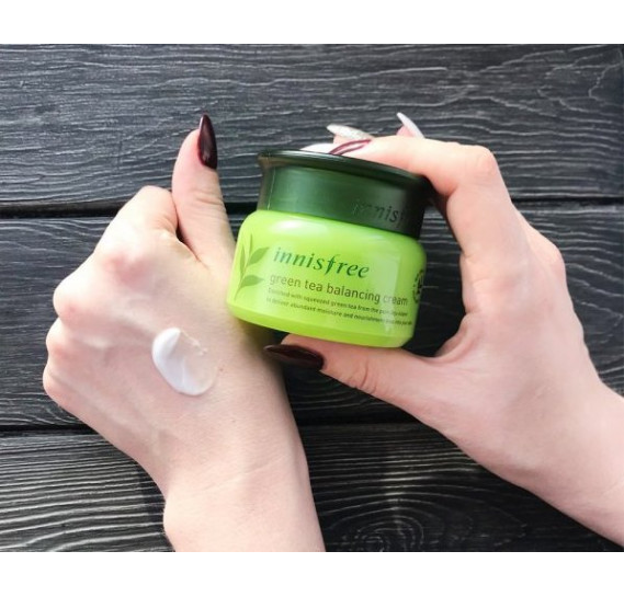 Балансирующий крем с экстрактом зелёного чая Innisfree Green Tea Balancing Cream EX INNISFREE 50 мл