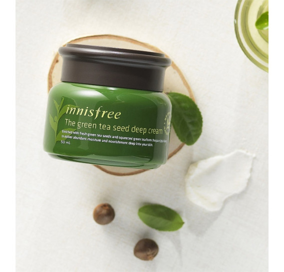 Интенсивный увлажняющий крем с экстрактом семян зеленого чая Innisfree The Green Tea Seed Cream INNISFREE 50 мл
